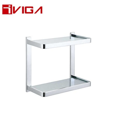 480614CH Double Layer Glass Shelf