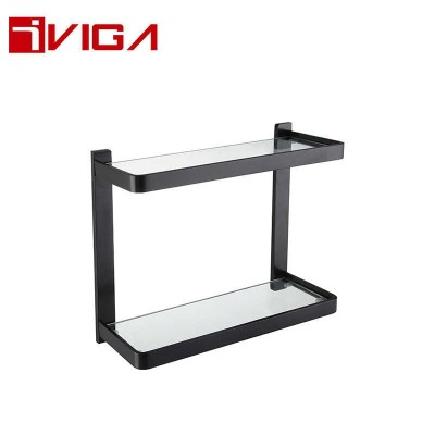 480614DB Double Layer Glass Shelf