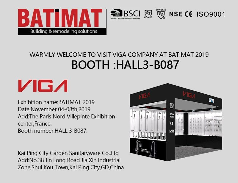 Looking forward to VIGA's BATIMAT France exhibition tour