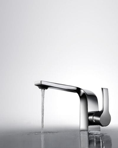 How does the water-saving faucet work?